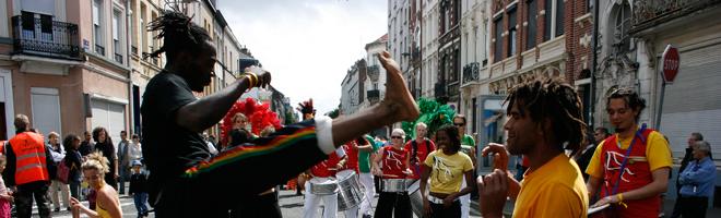spectacle de rue capoeira